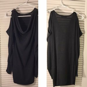 Double Zero black knit fitted dress (M)